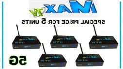 MAX TV 5G - 5 pack of 2018 MAXTV IPTV + ANDROID 7.1 WIFI PVR