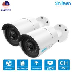 5MP 1920P PoE IP Security Camera Video Audio Waterproof Reol