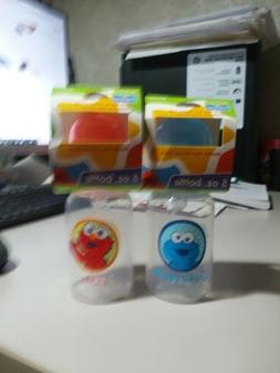 5OZ Baby Cookie Monster & Baby Elmo Bottles NEW