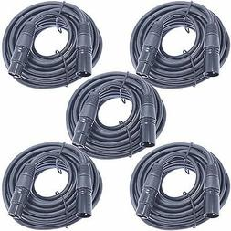 5pack 25 ft foot 3 pin xlr