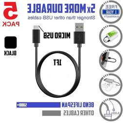 5pack Short 1ft / 12in Data Sync & charge Micro-USB Cable  B
