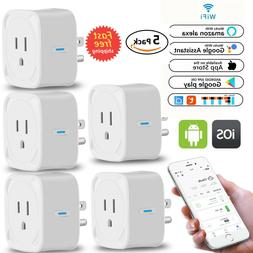 5Pack Wifi Smart Outler Plug Socket Adapter Timer Swtich Goo