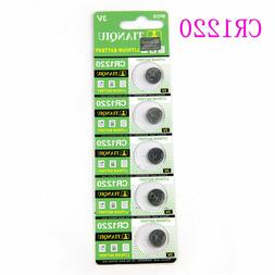 5Pc/pack 3V CR1220 1220 Coin Button Batteries Cell Battery F