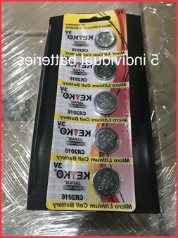 5pcs Durable CR2016 3V Batteries 3V Button Coin Cell Pack