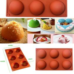 6-Cavity Silicone Mold Half Circle Sphere Baking Pan Mould C