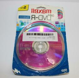 Maxell 638033 5 Pack Colored DVD-R 120Min 4.7GB Blank Disc f