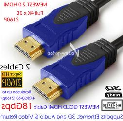 6FT Full 4K@60Hz HDMI 2.0 Cable In-wall For Blu-Ray/DVD Play
