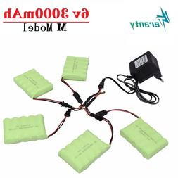 6v 3000mAh Battery and <font><b>Charger</b></font> For RC Ca
