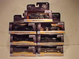 7 pack BATMAN 1966,1995,1989, 2009, 15,16, 17 Batmobile Diec
