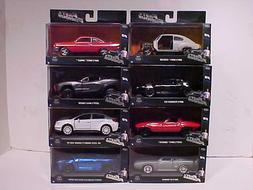 8 pack Fast & Furious 8 Dom's and Letty's Diecast Cars 1:32