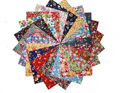 """80 5"""" Among the Flowers Quilting Fabric Charm Pack"""