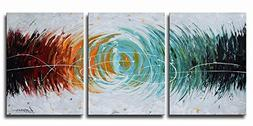 "ARTLAND Modern Abstract Painting on Canvas ""Colorful Space"""