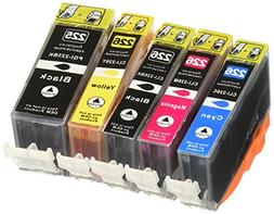 Generic  5 Pack with CHIP Non-OEM Ink for PGI-225 CLI-226 Pi
