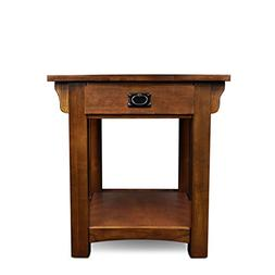 Leick Furniture Mission Drawer End Table, Solid ash and oak