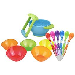 Munchkin 6-Pack Soft Tip Infant Spoons with 5 Pack Multi Bow