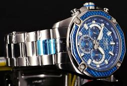 New! Invicta Men's Aviator Ocean Blue Carbonfiber Chronograp