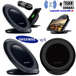 Qi Wireless Fast Charger Charging Pad Stand Dock for Samsung