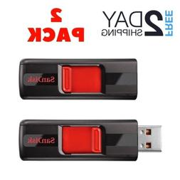 SanDisk Cruzer CZ36 16GB USB 2.0 Flash Drive, 2 Pack , Frust