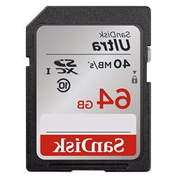 SanDisk Ultra 64GB Class 10 SDXC Memory Card Up To 40MB/s-SD