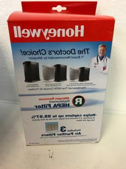 Honeywell Allergen Remover Replacement HEPA Filters 3/Pack H