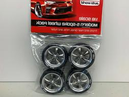 Auto World AWPP003 1:18 Scale Modern 5-Spoke Wheel Pack