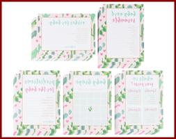 Baby Shower Game Card Packs 5 Set Assorted Party Activity Su