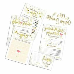 Baby Shower Games | Pack of 5 Activities | 50 Sheets Each -