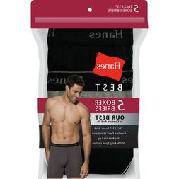 Hanes Best 5-Pack Men's Boxer Brief Comfort Flex Tagless Lar