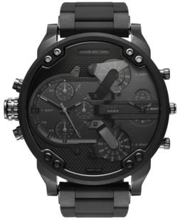 Diesel Men's Black Stainless Steel and Silicone Bracelet Wat