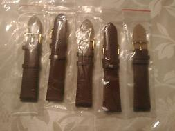 Brand NEW- Lot of 5 Individually Packed- 20MM Genuine Leathe