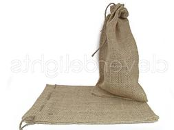 """CleverDelights 6"""" x 10"""" Burlap Bags with Natural Jute Drawst"""