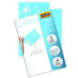 "Fellowes Business Card Size Laminating Pouch,3.75"" Width x 2"
