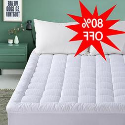 Cal King Mattress Pad - Pillow Top Fitted Mattress Pad Cover