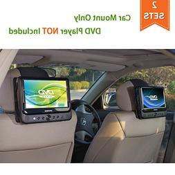 TFY Car Headrest Mount for Portable DVD Player - 2 Pieces