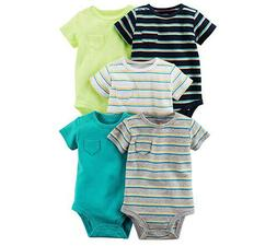Carter's Baby Boys' 5 pack Short Sleeve Original Bodysuits/S