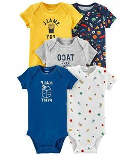 Carter's Baby Boys 5-Pack Short Sleeve Original Bodysuits 24
