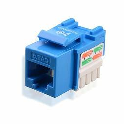 Cable Matters 25-Pack Cat6 RJ45 Keystone Jack  in Blue with