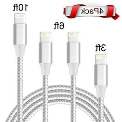 Compatible Charger Cable - XUZOU 4Pack 2x6FT 3FT 10FT to USB