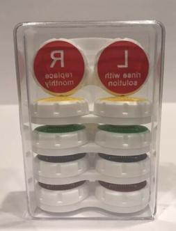 Equate Contact Lens Cases 5 Pack with Clear Hard Plastic Cas