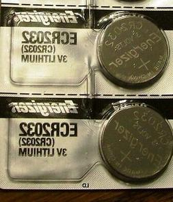 Pack of 4 -- Energizer Cr2032 3v Lithium Coin Cell Battery D