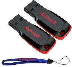 SanDisk Cruzer Two Pack 32 GB  Cruzer Blade USB 2.0 Flash Dr
