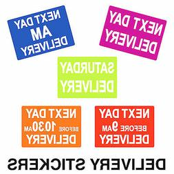 courier delivery labels stickers next day am