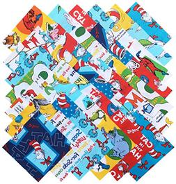 Robert Kaufman DR. SEUSS Precut 5-inch Cotton Fabric Quiltin