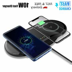 Dual Wireless Charger Double QI Fast Wireless Charging Pad A