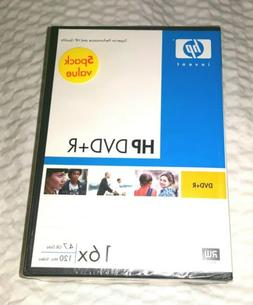 HP DVD +R 16x 4.7 GB Data 120 Minute Video With Case 5 Pack