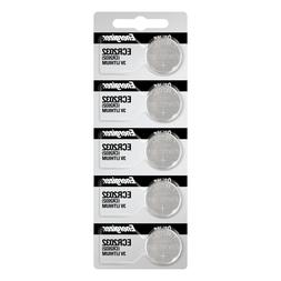 Energizer ECR2032 Lithium  Coin Cell Batteries 5 Pack Tear S