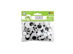 Krafty Kids EM400 182 Pieces Assorted Paste-on Googly Eyes,