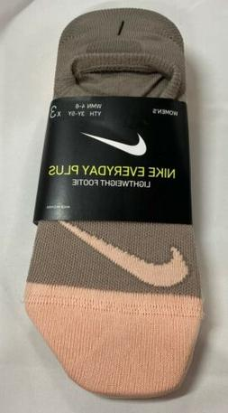Nike Everyday Plus Lightweight Footie Youth 3-5 Pack Of 3 so