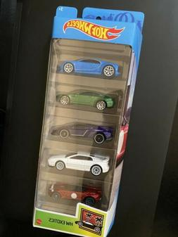 Hot Wheels Exotics 5 Pack Blue Bugatti Chiron