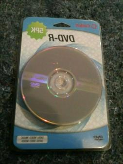 Factory Sealed Cellet DVD-R 5 Pack 1-16x 4.7Gb 120min